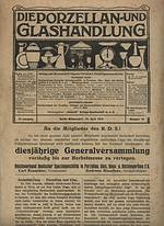 """Porzellan- & Glashandlung<br>April 1919"""